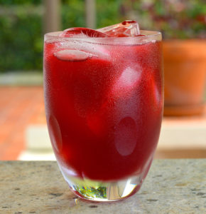 Ice cold Sorrel in glass